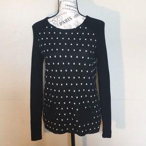 🧚🏻♂️LOFT wool blend lightweight polka dot sz M
